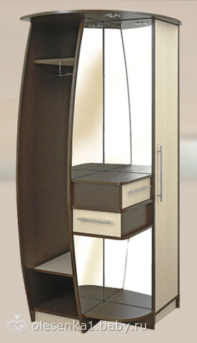 шкафыкупе комбинированные в интерьере прихожей