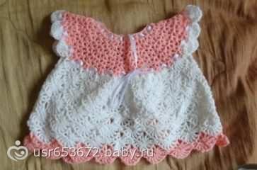 вязаное платье для новорожденной крючком вязаное платье для новорожденной крючком
