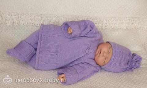 Детские вязанные костюмы для новорожденных своими руками