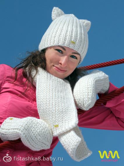 шапки для детей зимние крупная вязка