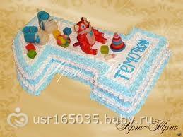 Торт на один годик мальчику своими руками из крема
