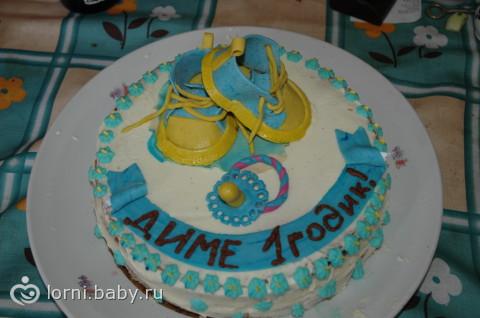Торта с мастикой своими руками на годик