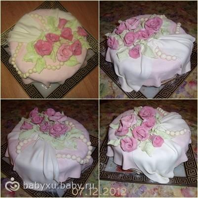 Кто делал торт из мастики своими руками? / торт своими руками с мастикой / торты из мастики своими руками для начинающих