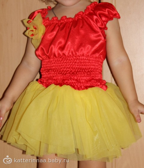 Платье резинка для девочек как сшить 305