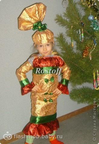 Как сделать девочке костюм конфетки