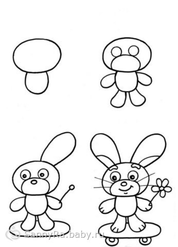 Учимся рисовать для деток))) и