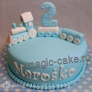Торт из мастики на 2 годика своими руками