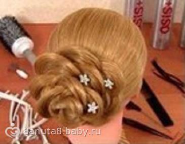 Как из волос сделать розочки