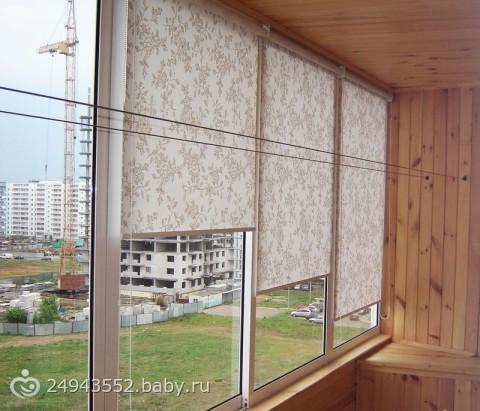 Шторы на балконное окно фото