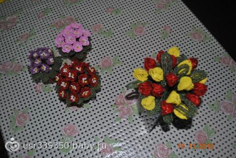 """Мои цветочки из бисера  """" Мир Бисера.com - бисероплетение, бисер схемы, мастер классы."""