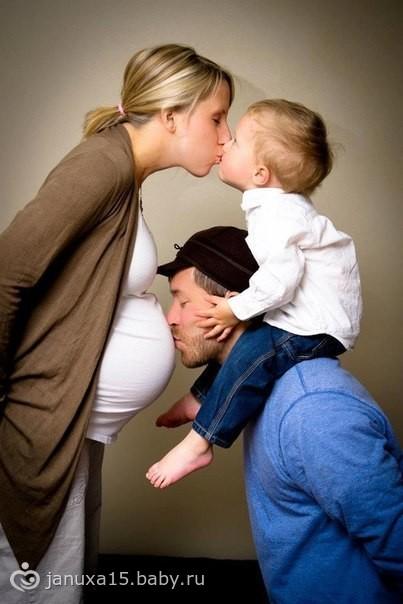 Фотосессии беременные с ребенком