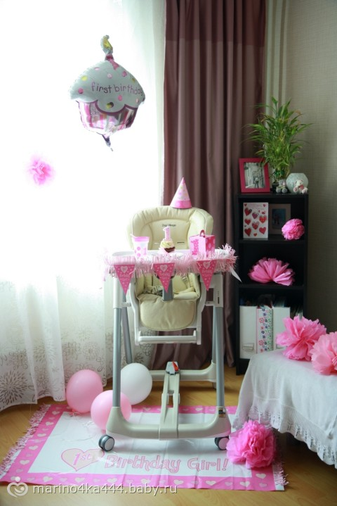 Как украсить комнату дочке на 1 годик