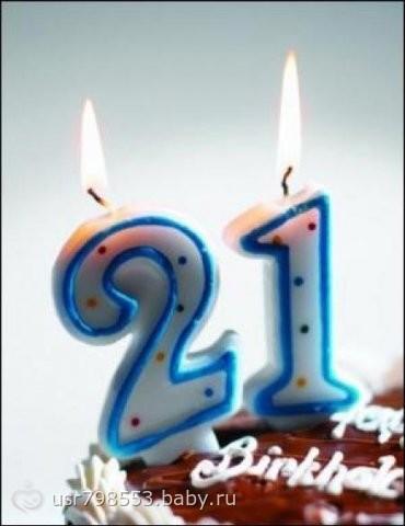 С днем рождения поздравления 21 год девушке
