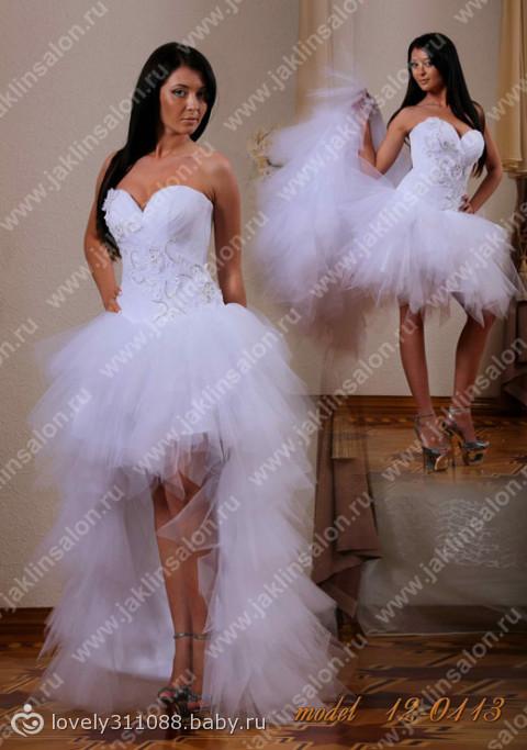 Свадебные платья цветные короткие 4