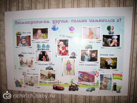 Поздравления с днем рождения на плакате с фото