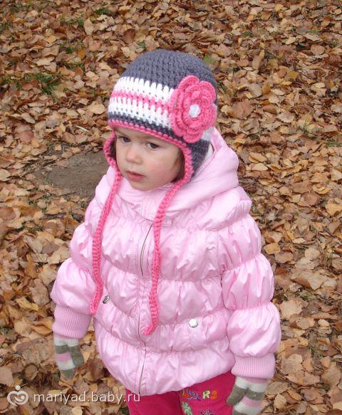 Шапочки крючком для девочек. детские вязанные зимние шапки на годик мальчику схемы фотомодели