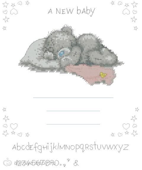 Мишки тедди - схемы вышивок