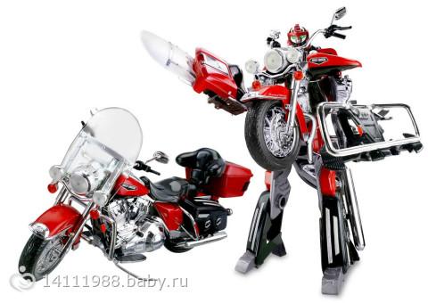 Игрушки трансформеры - Робот-трансформер Harley Davidson, 1:8, свет , звук.  944р.