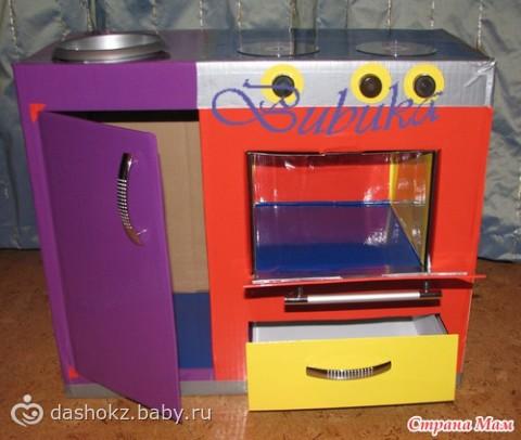 Игрушечная кухонная плита своими руками 46
