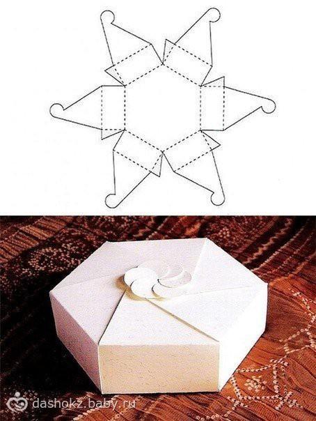 Схемы коробок подарочных