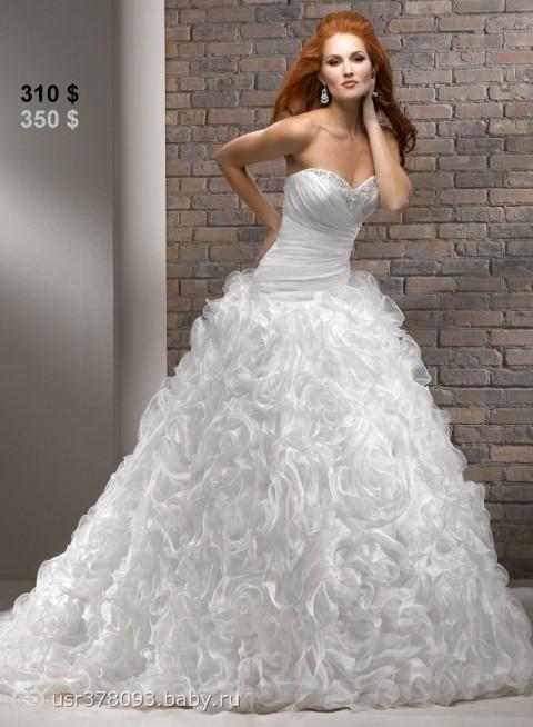 Комментарий: Свадебное платье Nivia - цена 36000 рублей, Пышное (принцесса), цвет белый - Свадебный салон Интерстиль
