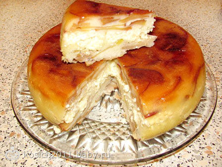 Яблочный пирог с творогом в мультиварке рецепты с фото