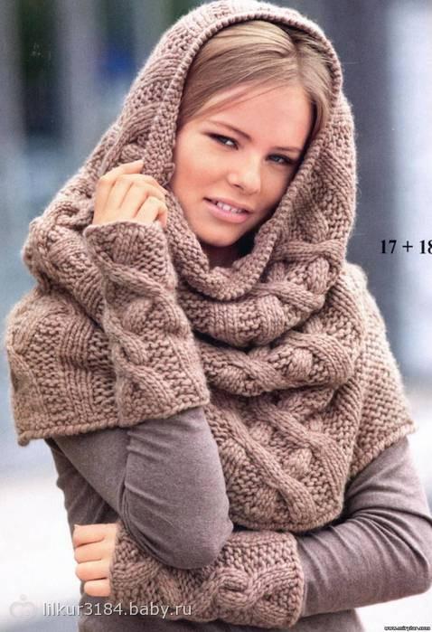 Схемы для вязания шарфа