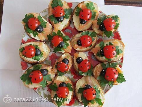 Фото праздничное оформление салатов и закусок