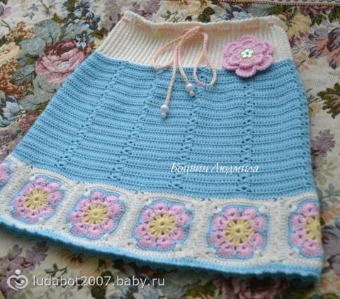 Вяжем юбку девочке 6 лет