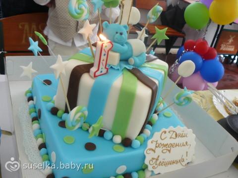 Фото тортов для детей на годик