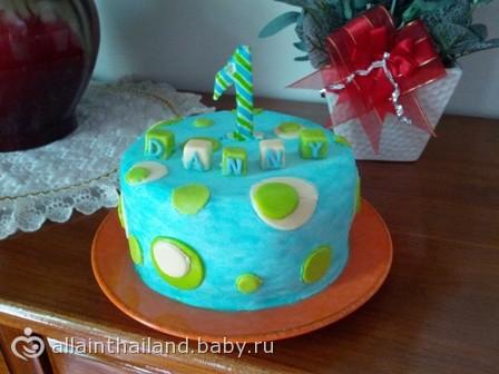 Торт на первый день рождения все