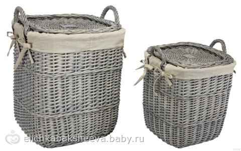 Корзина для белья плетеная