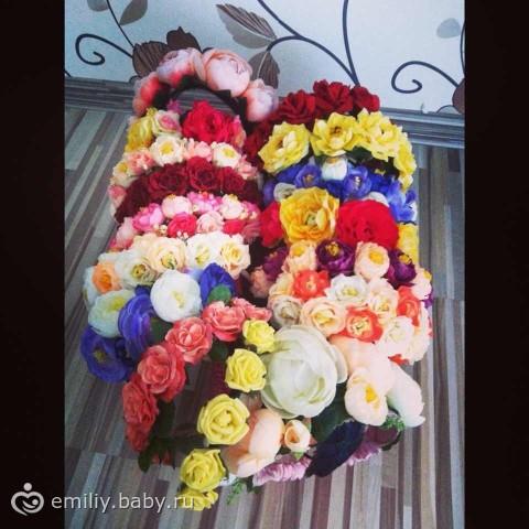 Ободки с цветов своими руками