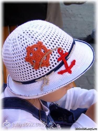 Вязанная шапка панама