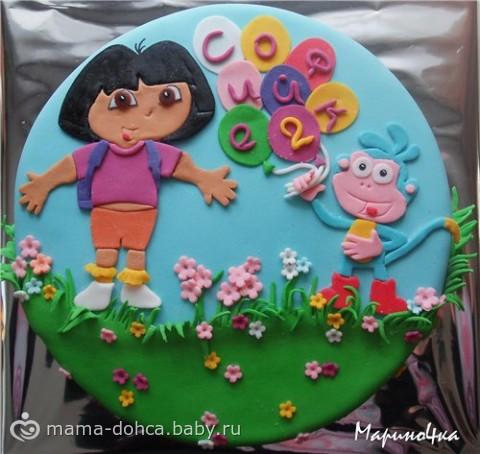 Торт детский на 3 года