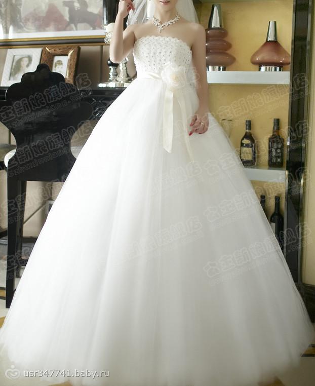 Пышное свадебные платья для беременных 78