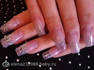 Классический дизайн ногтей