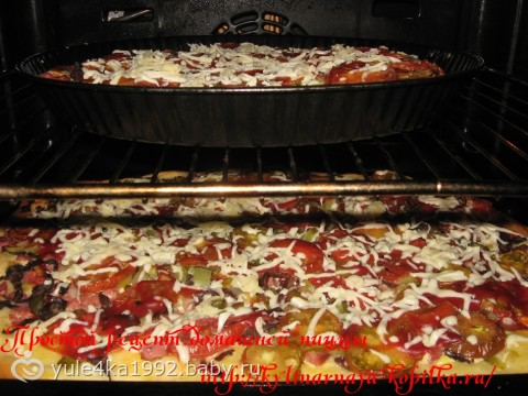 Начинка пиццы в духовке в домашних условиях