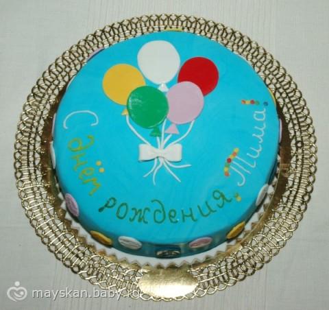 Детский торт своими руками с мастикой фото