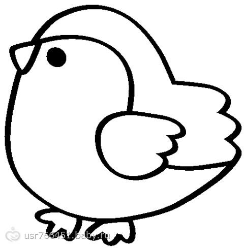 Раскраска для малышей птички