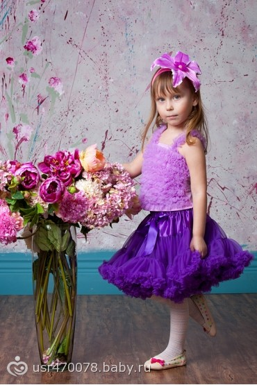 Детские пышные юбки для девочек до года