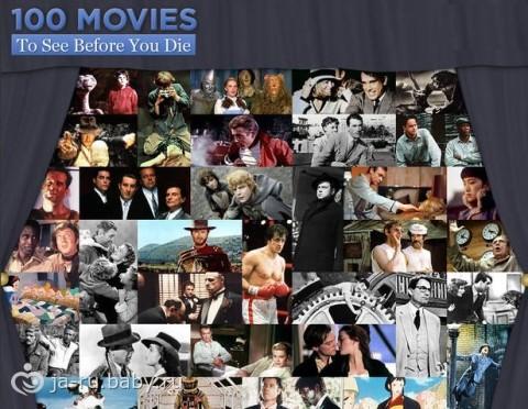 100 фильмов, которые нужно посмотреть за свою жизнь.