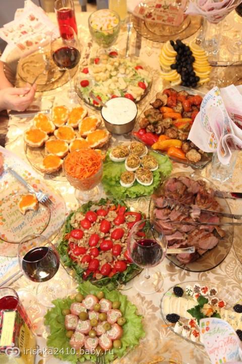 Оформление стола на день рождения фото дома