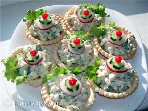 Рецепты салатов с фотографиями тарталетки