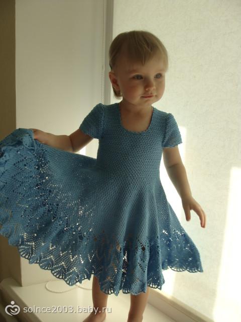Платья для девочки крючок два года