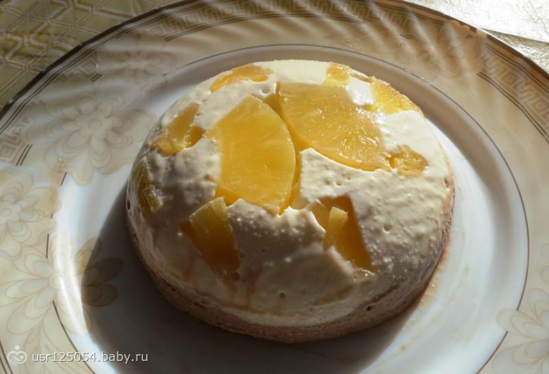 Творожно-ананасовое желе