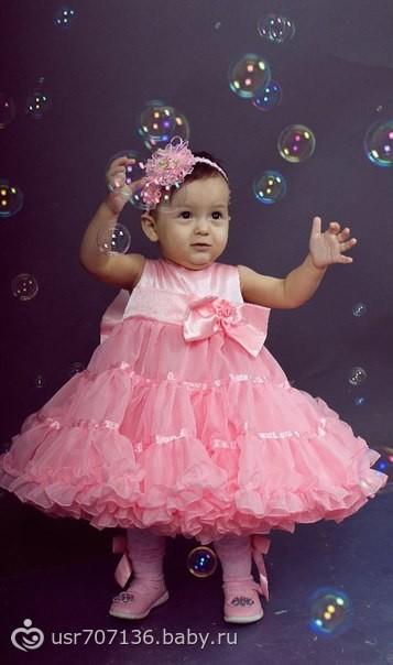 Детское платье на 1 годик фото для