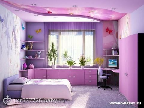 Дизайн комнаты для дочки и мамы