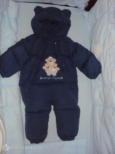 зимний комбинезон для новорожденного фото