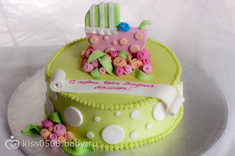 Мастичные тортики на годик фото